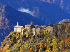 Valle Maira in Autumn, Piedmont, Italy