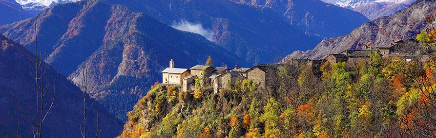 Valle Maira in Autumn, Piedmont, Italy