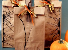 Gift package made with paper bread bags