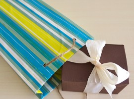 Gift package made with cereal boxes
