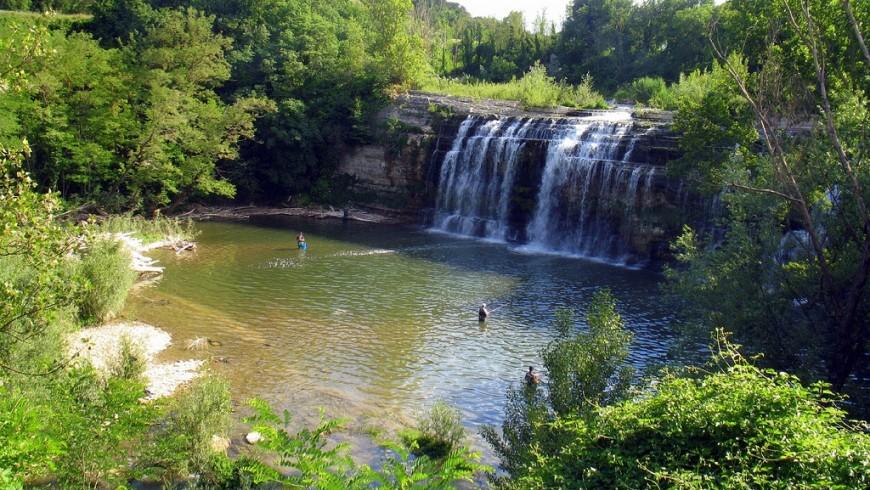Sasso Falls, on Metauro (Pesaro Urbino)