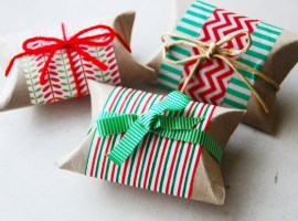 Gift package with rolls of toilet paper