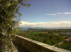 The view of the B&B in Polpenazze del Garda