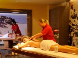 A massage in the hotel