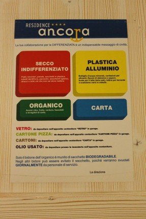 The instructions for recycling