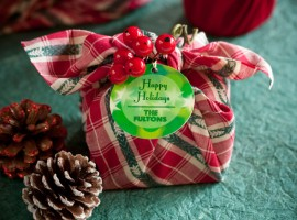 Gift package made with scarves