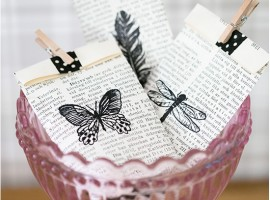 Gift package made with books