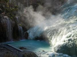 Free hot springs in Italy: Bagni San Filippo in Tuscany