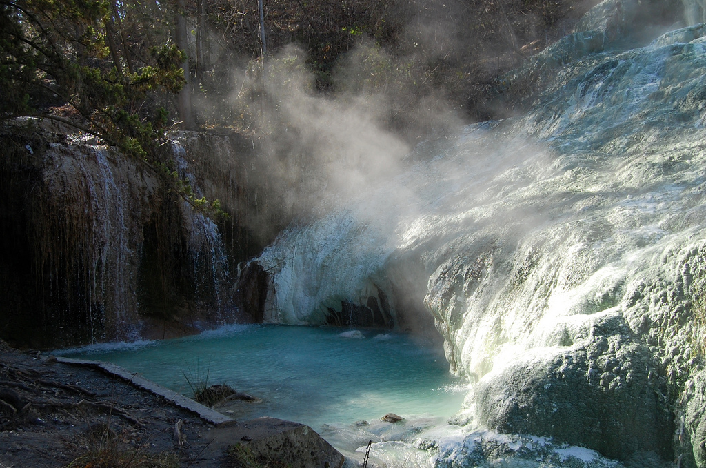 Free hot springs in Italy: Bagni San Filippo in Tuscany