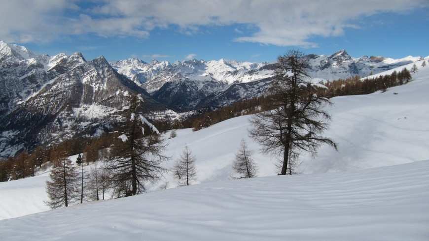 Itinerary by snowshoes in Piedmont