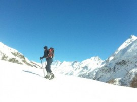 Itinerary by snowshoes in Aosta Valley