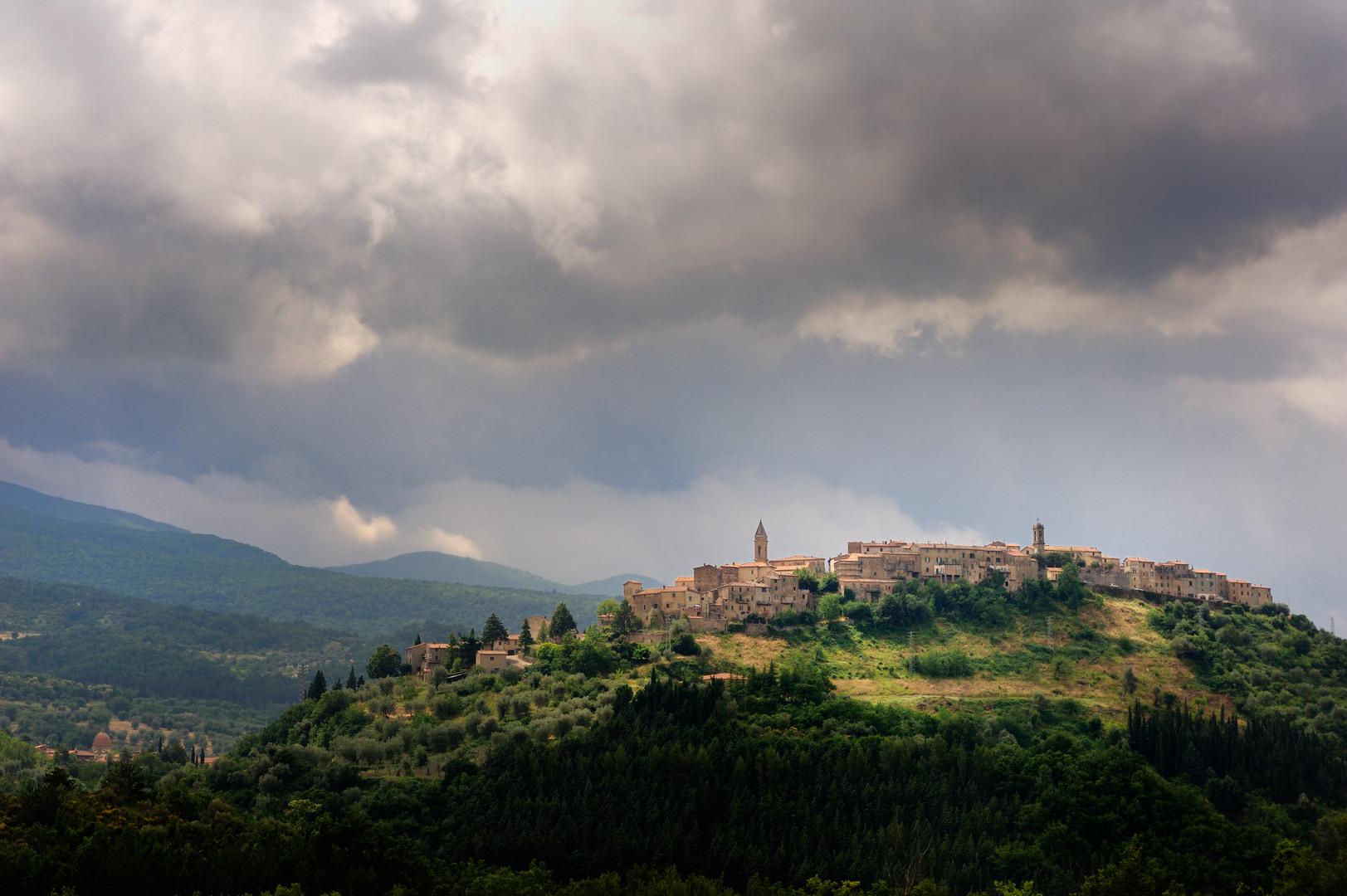 Abbadia San Salvatore, a village of Mount Amiata
