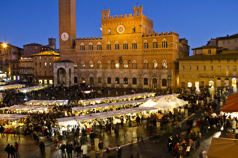 Christmas Market in Siena, Italy