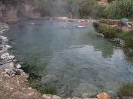 One of the free hot spring in Italy, in Sicily