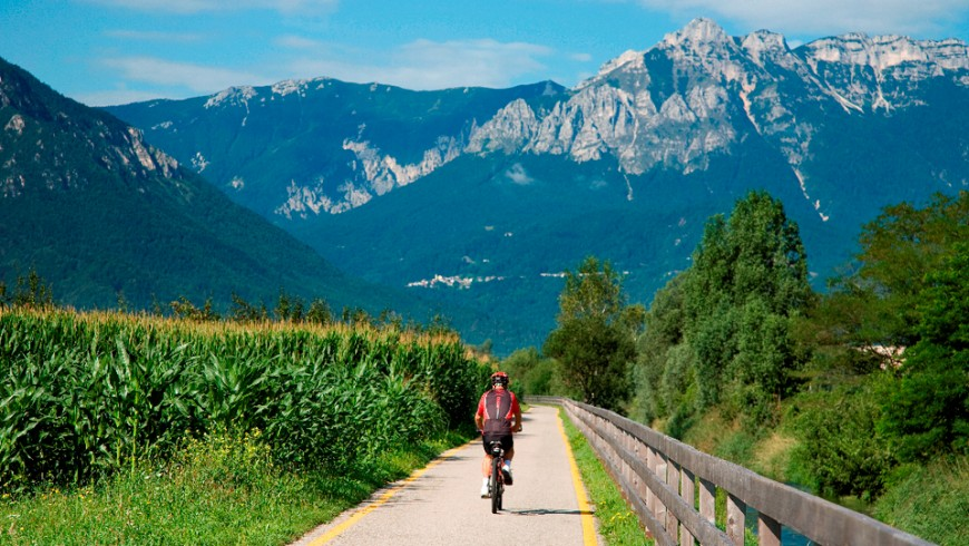 The cycle-path of Valsugana