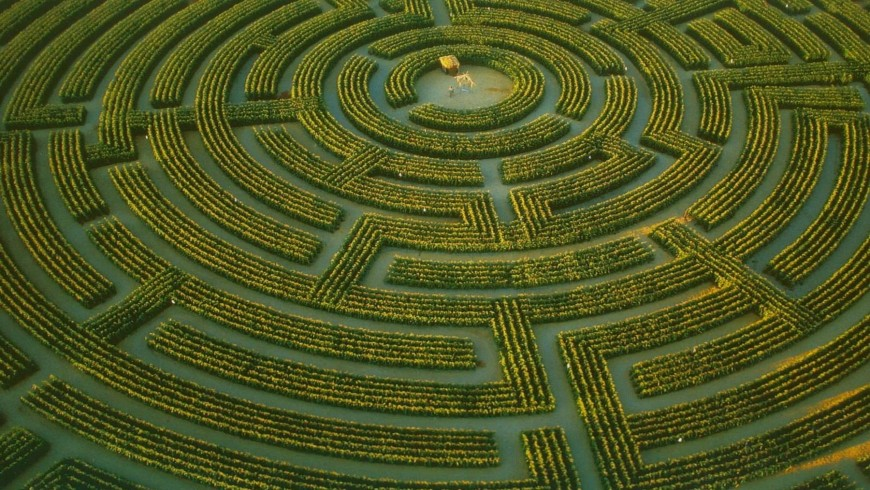 One of the most beautiful labyrinths of France