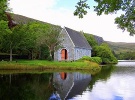 The most beautiful little church of Ireland in Gougane Barra Forest Park