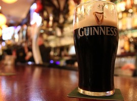 Pint of guinness in a Ireland's pub
