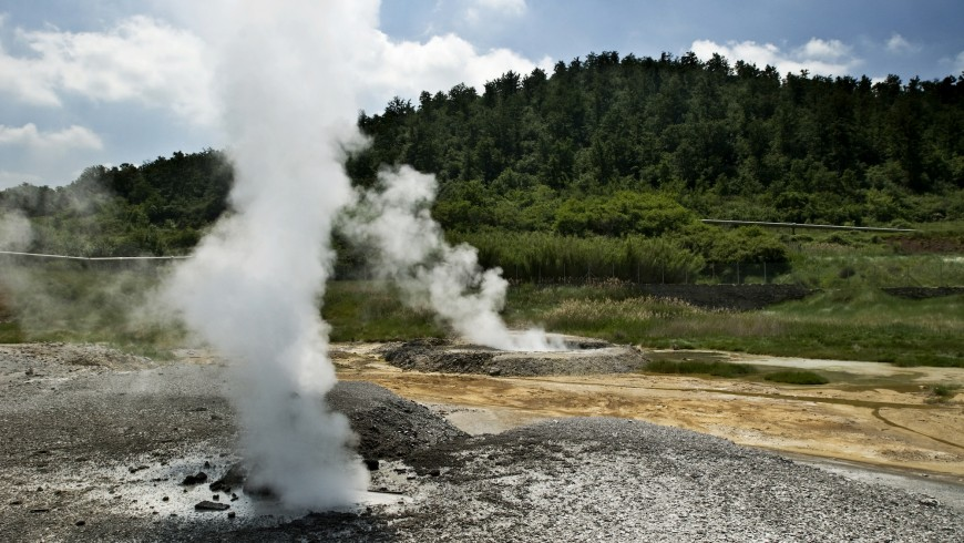 geothermal area in the Sienese hills
