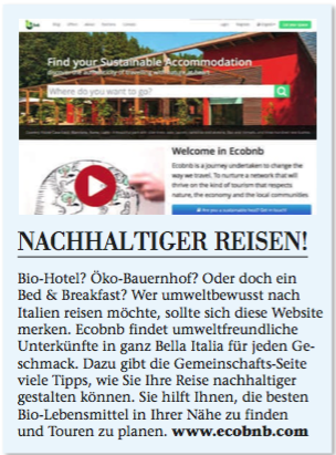 The german magazine Holiday and Lifestyle wrote about Ecobnb