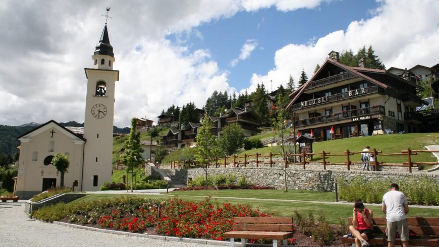 Chamois, Aosta Valley, North Italy
