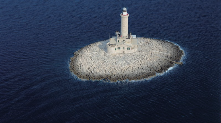A lighthouse in the sea for mother's day