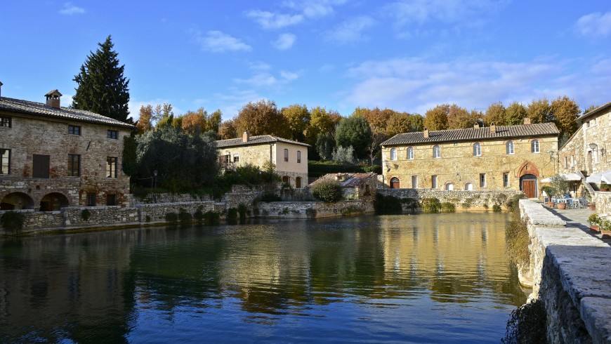 thermal baths of Bagno Vignoni in Tuscany