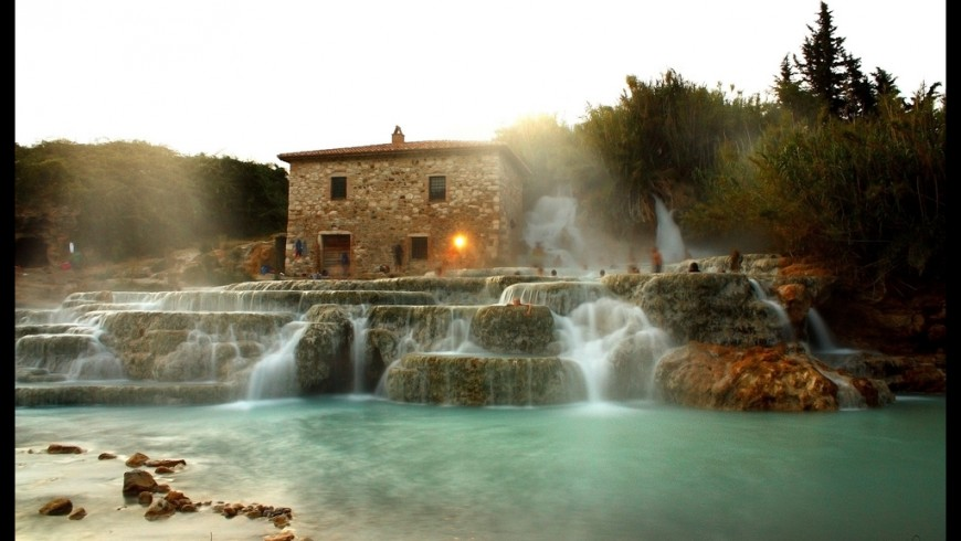 thermal baths of Saturnia in Tuscany