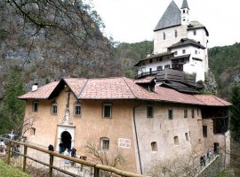 The ancient building of San Romedio, unusual accommodations