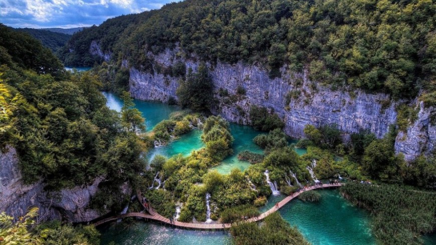 Lake Kozjak, one of the most spectacular lakes of Europe