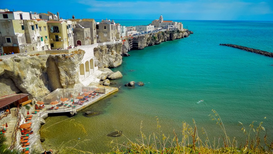 Vieste, summer at the beach in Italy