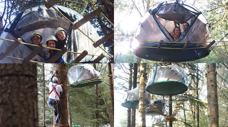 Parco Avventura nelle Madonie, tree houses in Italy