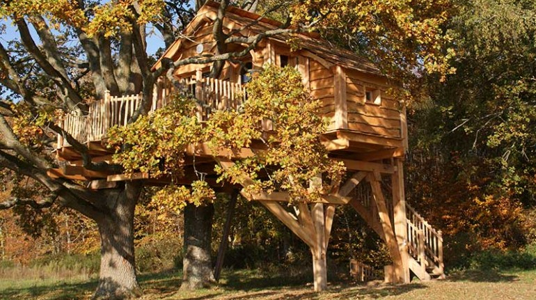 Cabane perchée Normandie, tree houses in France
