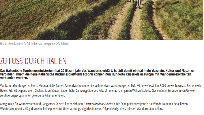 The Austrian magazine REISE AKTUELL talks about us