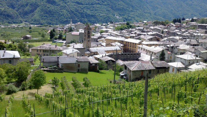 A small town in the valley of Valtellina
