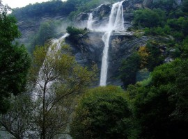 Acquafraggia Waterfalls in Valchiavenna (Sondrio)