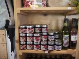 Local jams and juices at the Martin's Hofladen Bauernguet