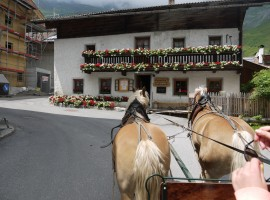 travelling by carriage (or sled) horse drawn, Plan, Passeiertal