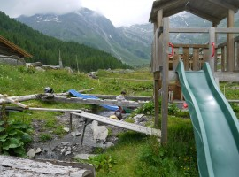 Playground at the Malga Lazins hut