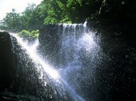 The Dardagna Falls and the Sanctuary of Madonna dell'Acero (Bologna)