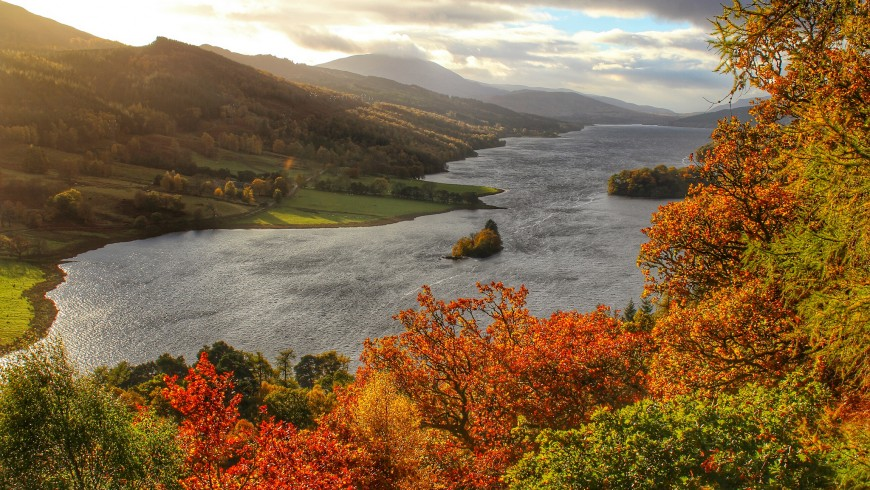 Fall foliage in Scotland