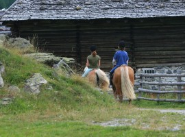 Horseriding in Pfertde, Passierthal, Southtyrol
