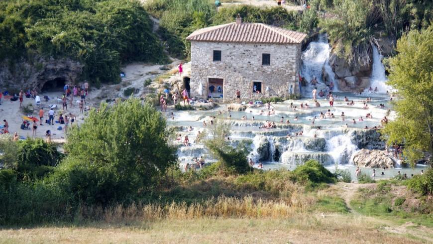 Saturnia's hot springs