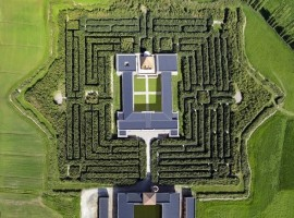 The maze of Masone from above