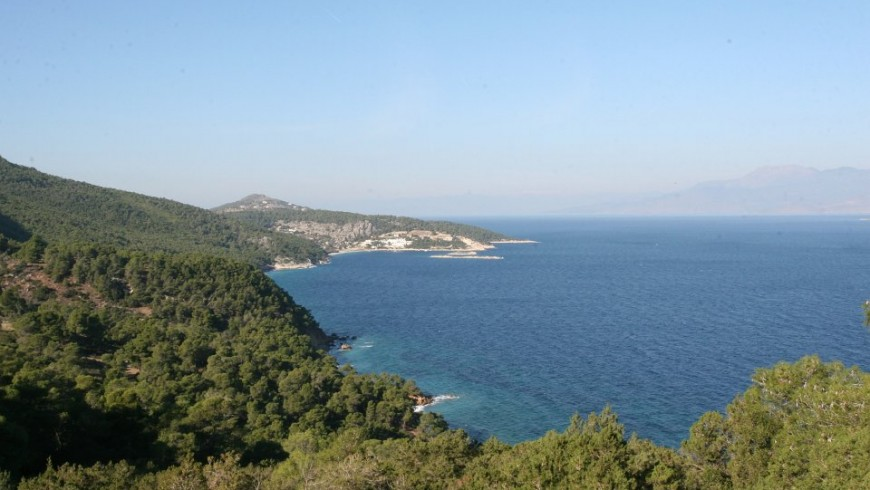Landscape near Loutraki, Greece