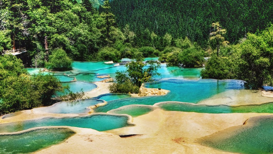Huanglong, one of the most beautiful national parks in the world