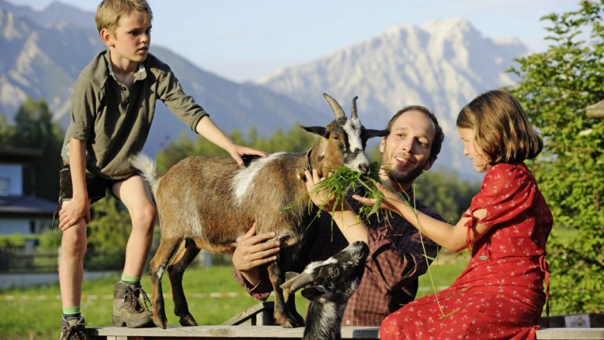 Organic Austria with children