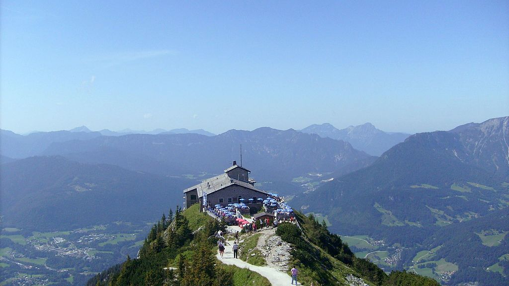 "Kehlsteinhaus, the Hitler's ""Nest of the Aquila"", a historic belvedere on the Obersalzberg."
