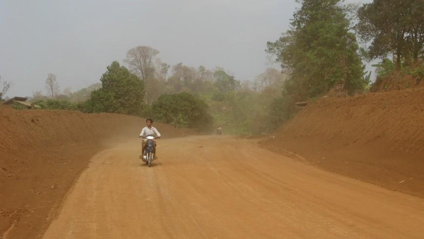 The red ground streets of Ratanakiri province, Cambodia