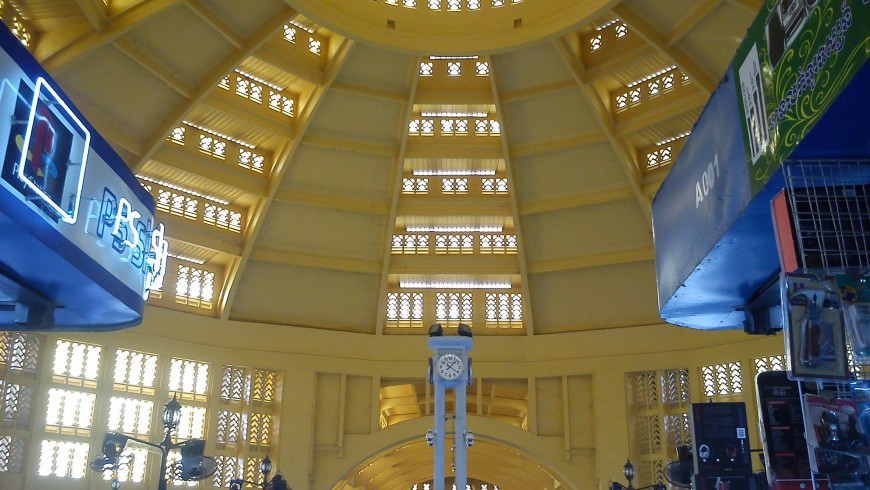 The interior of the Phnom Penh Central Market